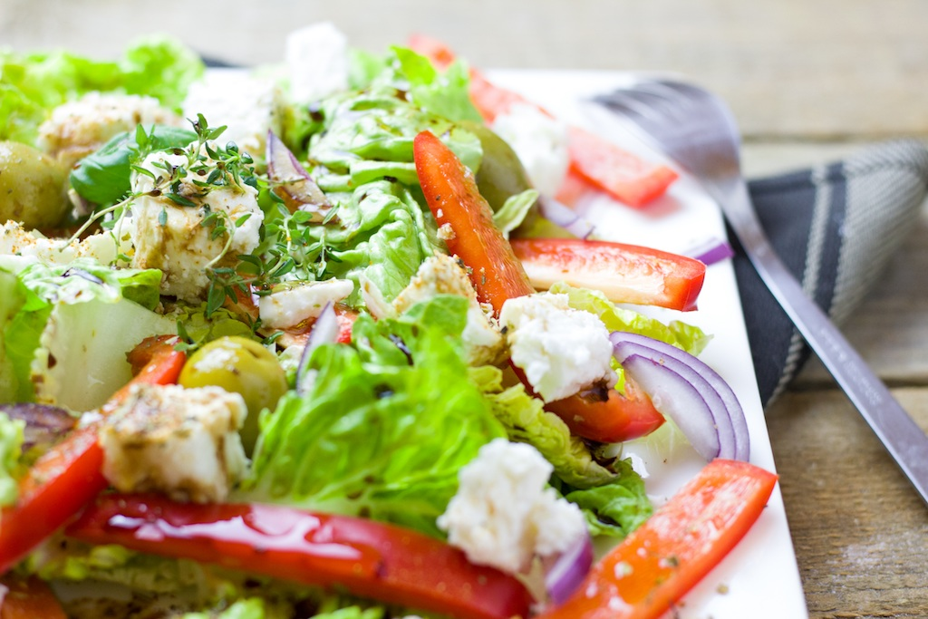 cena sana a base de verduras