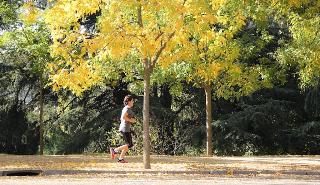 prancticando deporte al aire libre