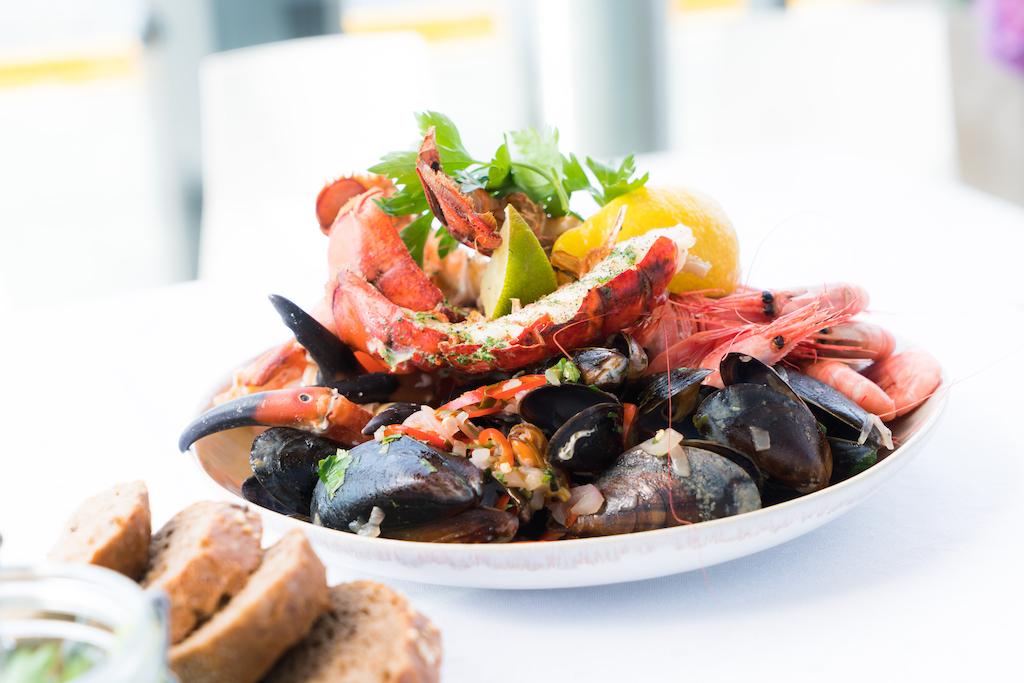 plato de marisco para celebrar el 2018