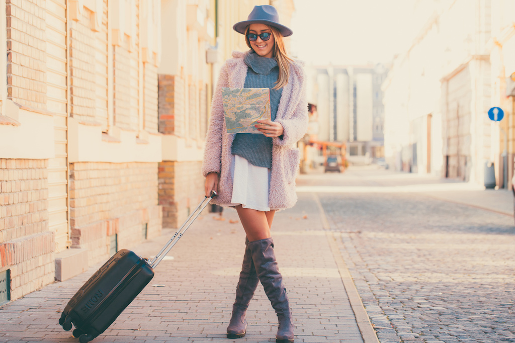 mujer de viaje
