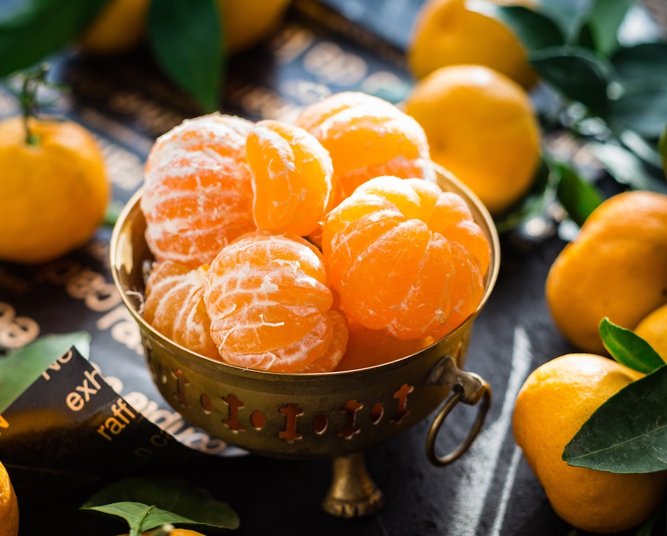 postre sano de mandarinas