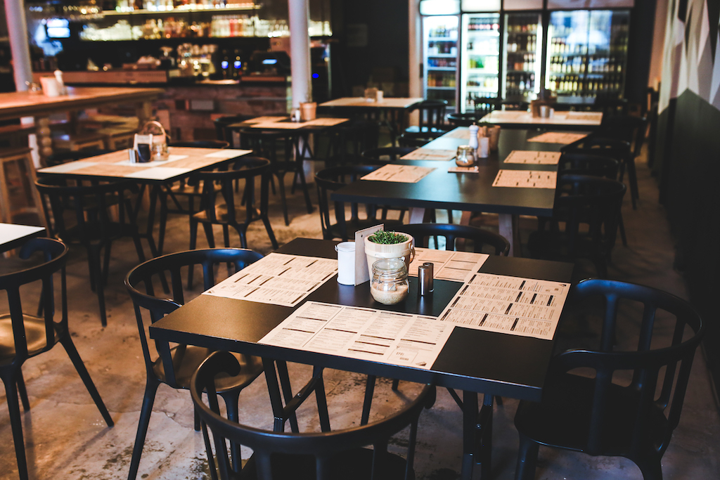 restaurante con menu del día saludable