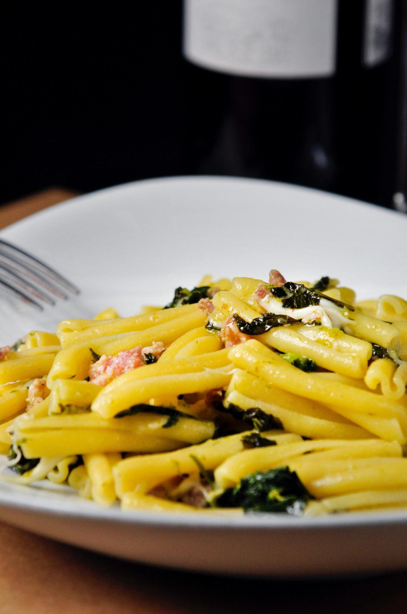 Plato de pasta fresca